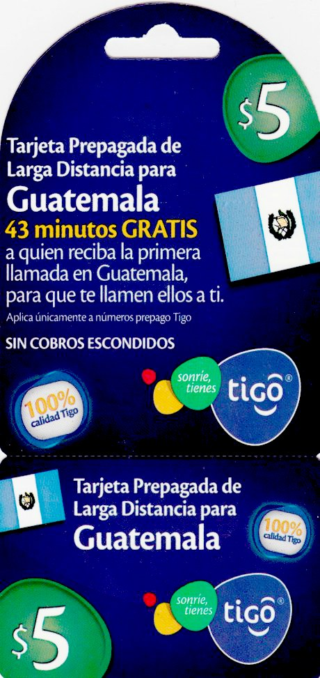 Tigo Guatemala $5